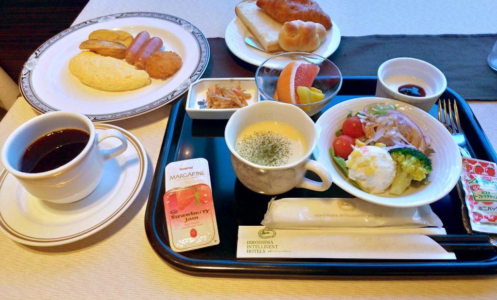 広島インテリジェントホテルアネックス 朝食セット
