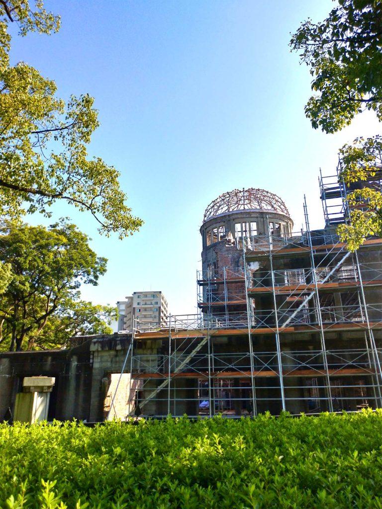 広島 原爆ドーム 工事中